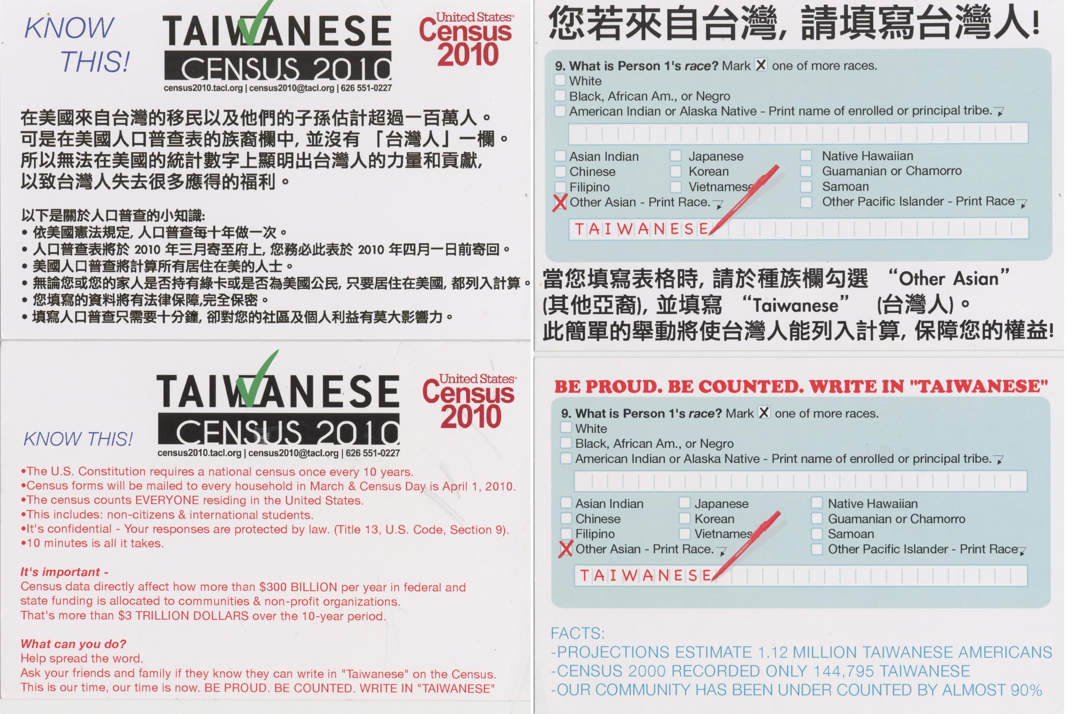 12. Taiwanese American Citizens League (TACL) Census 2010