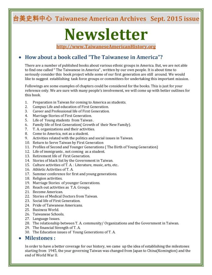 Newsletter September 09092015 - 0001