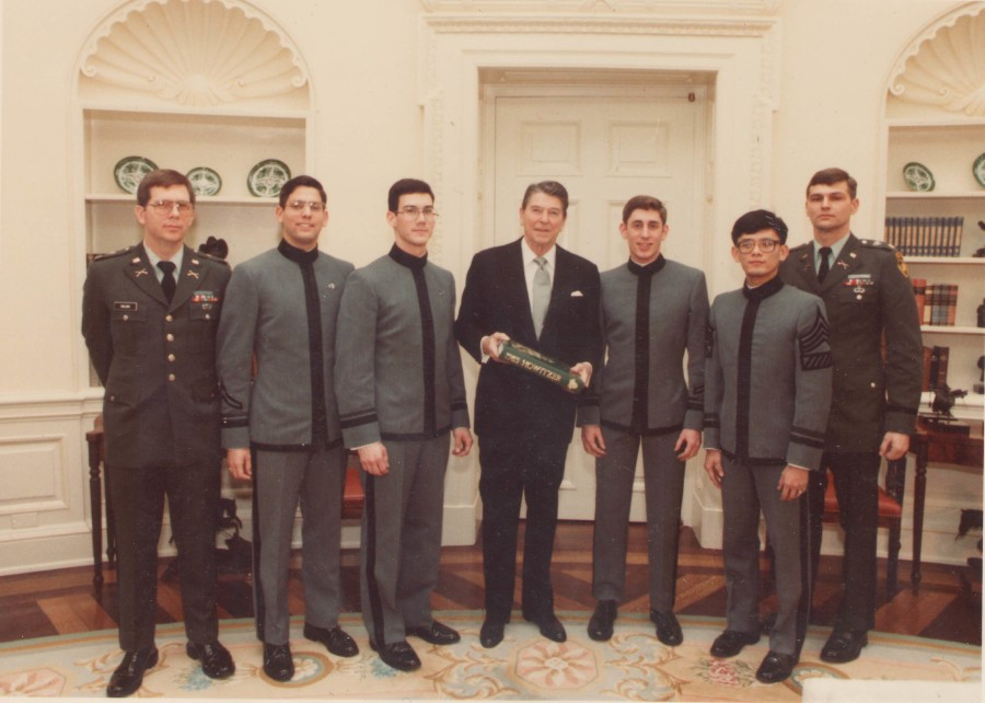 19840222 White House Group Photo President Reagan w West Point Cadets