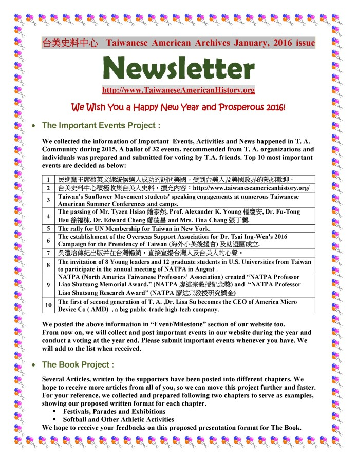 Newsletter January 2016 - 0001