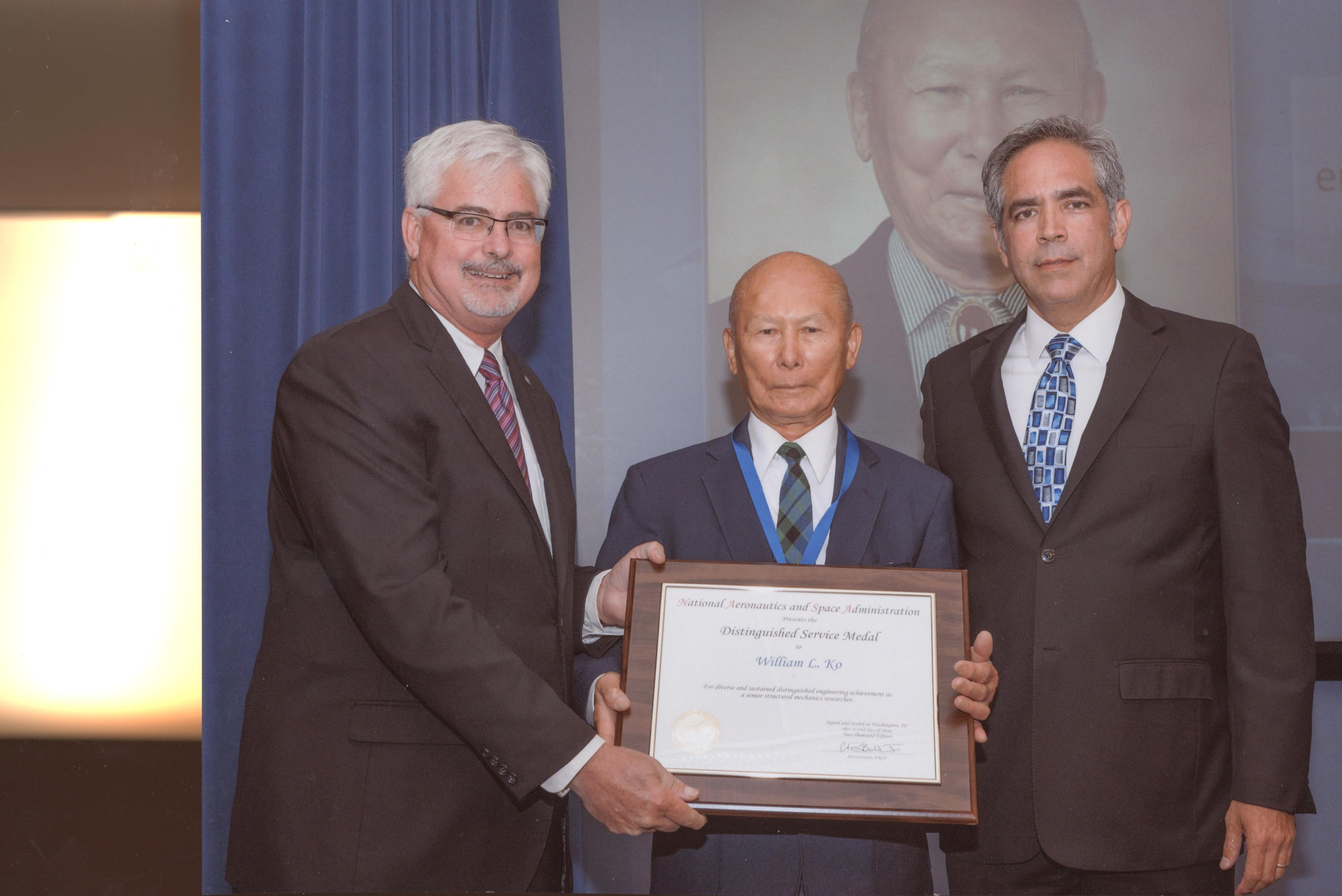 16. NASA Distinguished Service Medal, NASA's Highest Honor Dr. William Ko 2015 - 0003