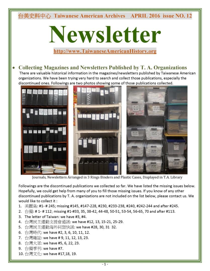 April Newsletter 2016 - 0001
