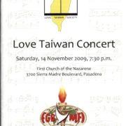 56. Love Taiwan Concert by Love Taiwan Society(惜台社), Pasadena, CA on 11/14/2009
