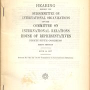 1175. Human Rights in Taiwan / Hearing Before The Subcommittee on International Organizations of The Committee on International Relations House of Representatives Ninety-Fifth Congress / U.S. Government /06/1977/Politics/政治