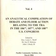 1190. A Legislative History of The Taiwan Relations Act Vol. 4 /Hon. Lester L. Wolff, Dr. Jon D. Holstine, and John J. Brady III /03/2004/Politics/政治