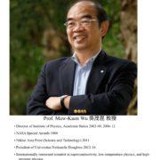 142. Prof. Maw-Kuen Wu 吳茂昆教授