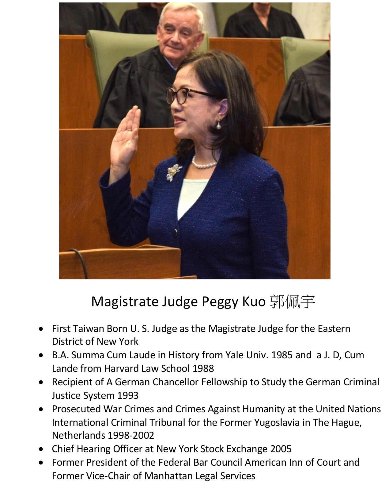226. Magistrate Judge Peggy Kuo 郭佩宇