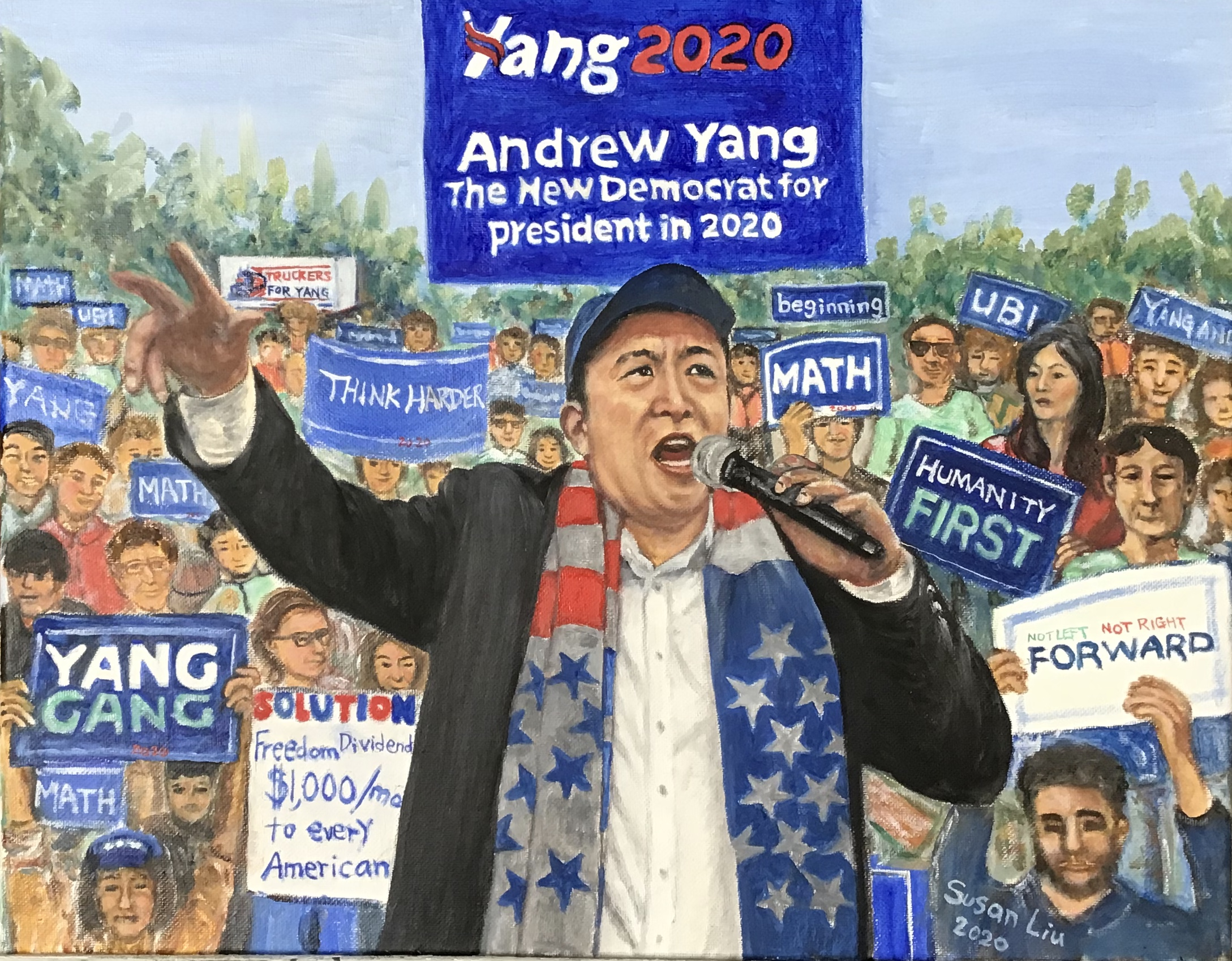 31. Andrew Yang in 2020 U. S. Presidential Election By Artist Susan Hsiu-fang Liu(陳秀芳)/2020