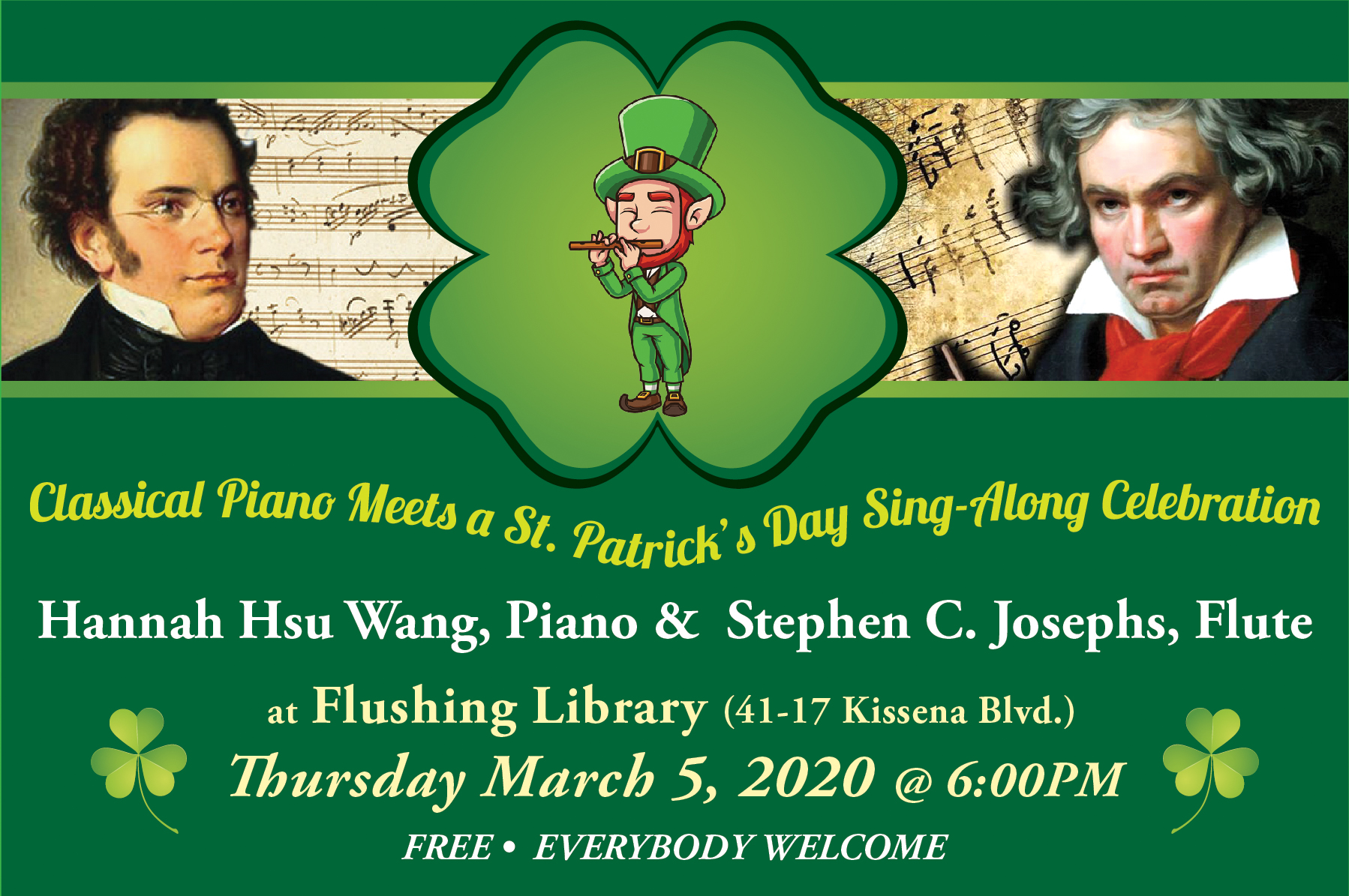 171. Classical Piano Meets a St.Patrick's Day Sing Along Celebration/03/05/2020