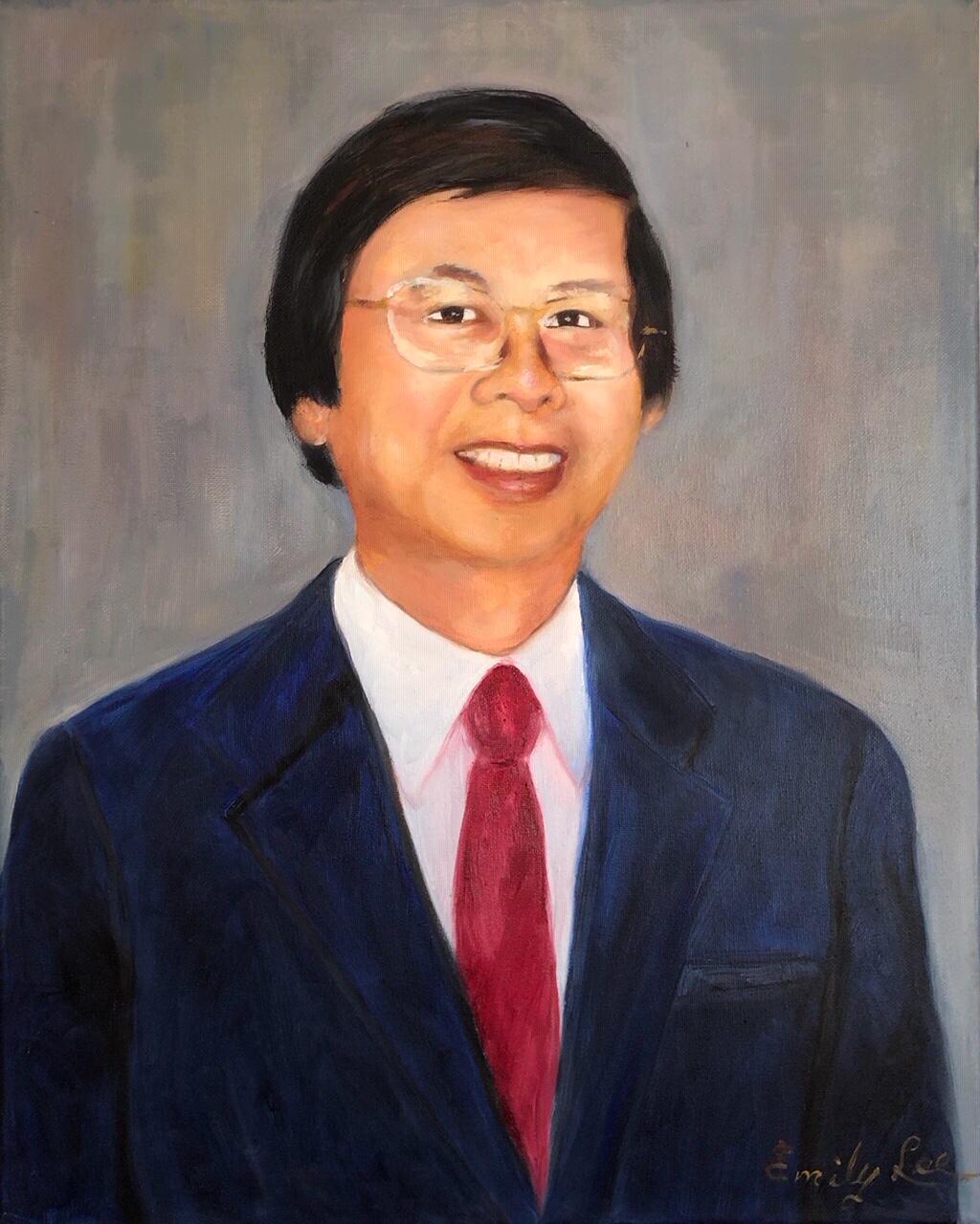 32.  Dr. Ching-Tse Lee 李清澤博士 by Artist 林榮峰 Emily Lee/09/2020