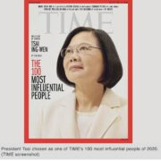 10. Tsai Ing-Wen as one of THE 100 MOST INFLUENTIAL PEOPLE OF 2020/09/2020
