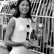 375. Cheng Chi 紀政 / The First Female T.A. Won the Olympic Bronze Medal in Mexico City/Mexico / 1968