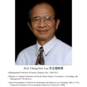 70. Prof. Cheng-Few Lee 李正福教授