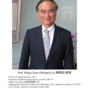 94. Prof. Ming-Chiao (Michael) Lai 賴明詔教授