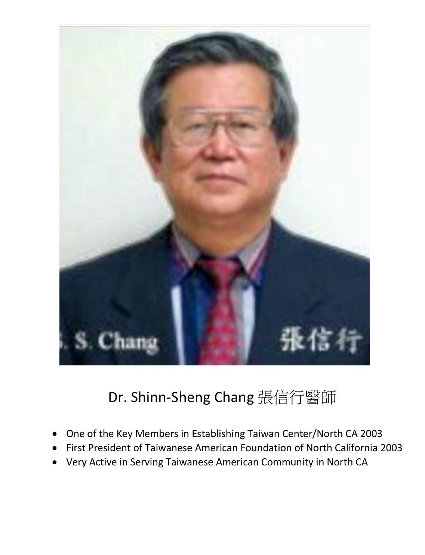199. Dr. Shinn-Sheng Chang 張信行醫師