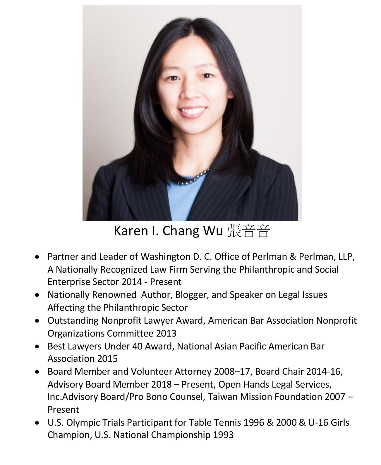 223. Karen I. Chang Wu 張音音