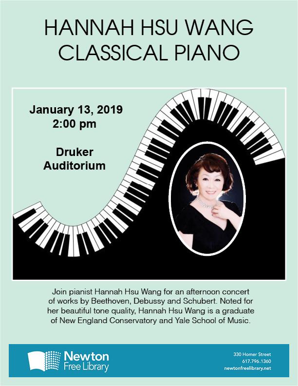 143. Hannah Hsu Wang Classical Piano Concert in Boston 01/13/2019