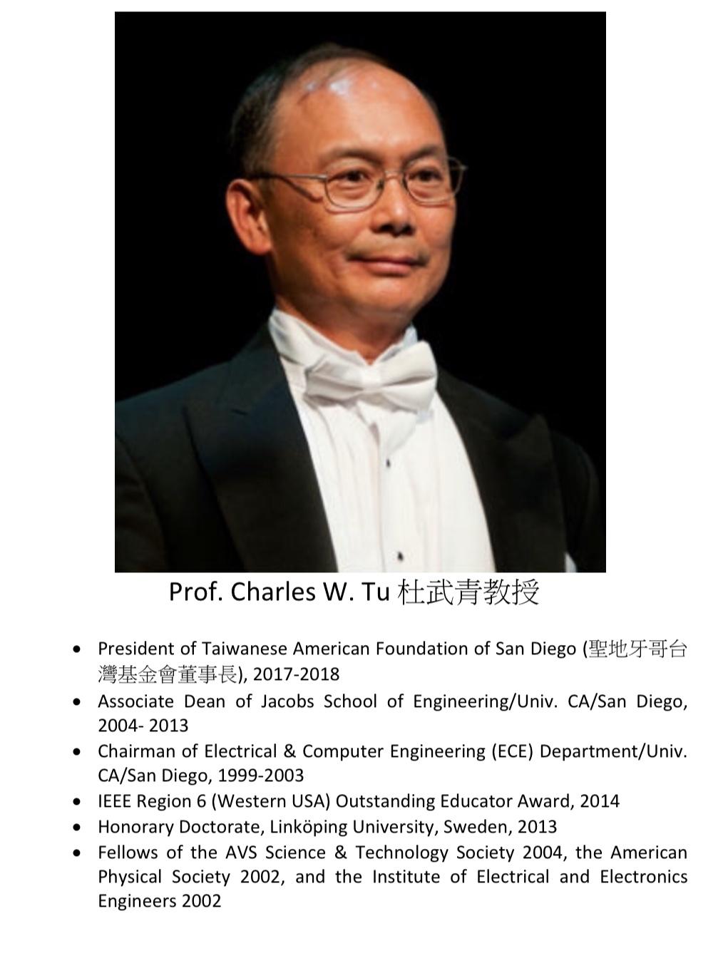 247. Prof. Charles W. Tu 杜武青教授