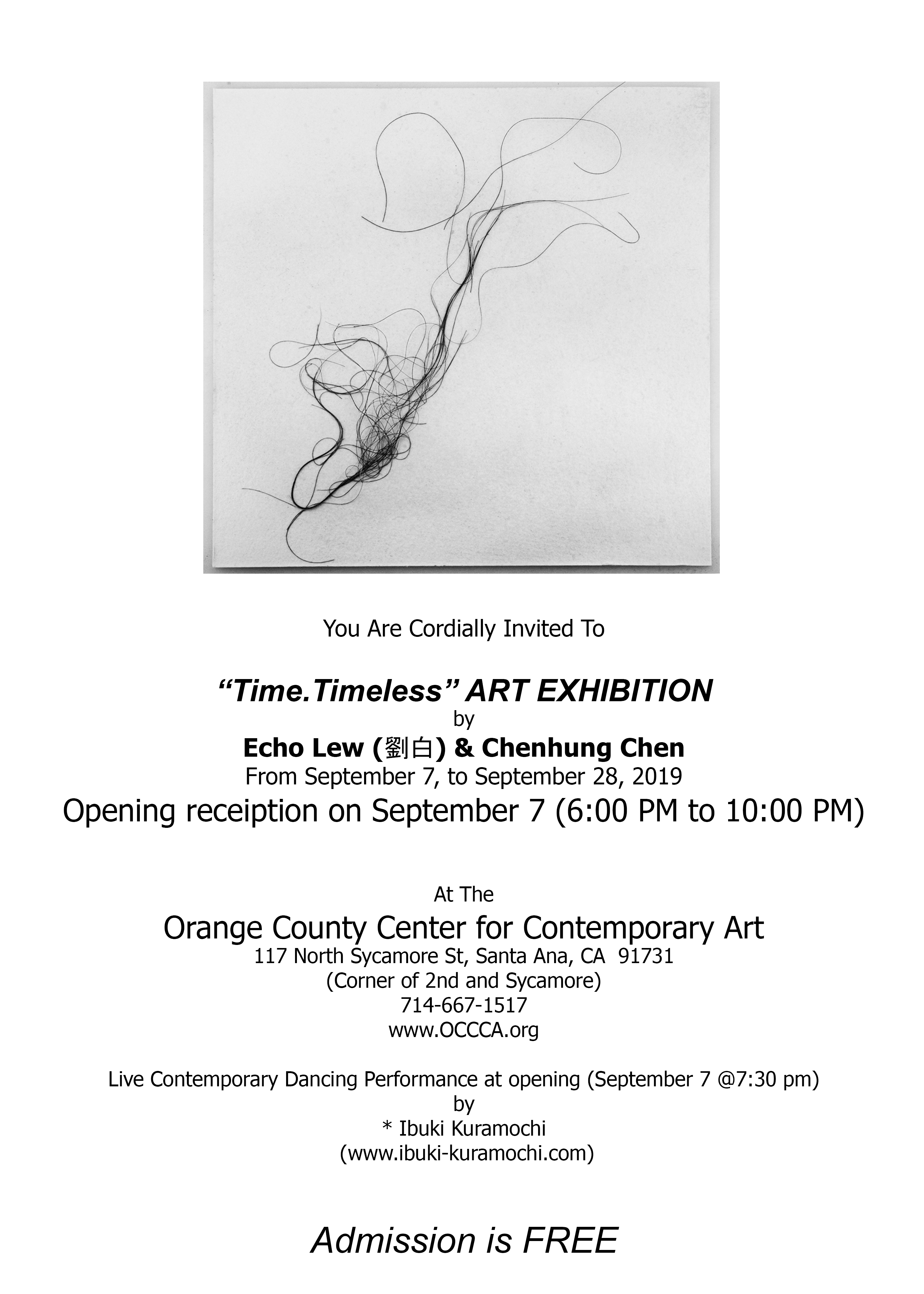 """42. """"Time. Timeless""""/Echo Lew & Chenhung Chen, at OCCCA/2019"""