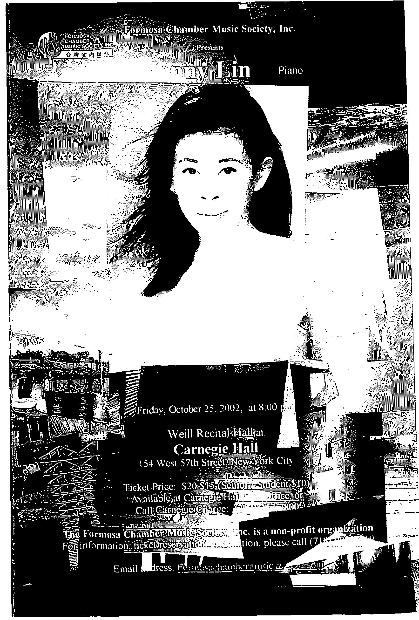 159. Formosan Chamber Music Society/Jenny Lin Piano/10/25/2002