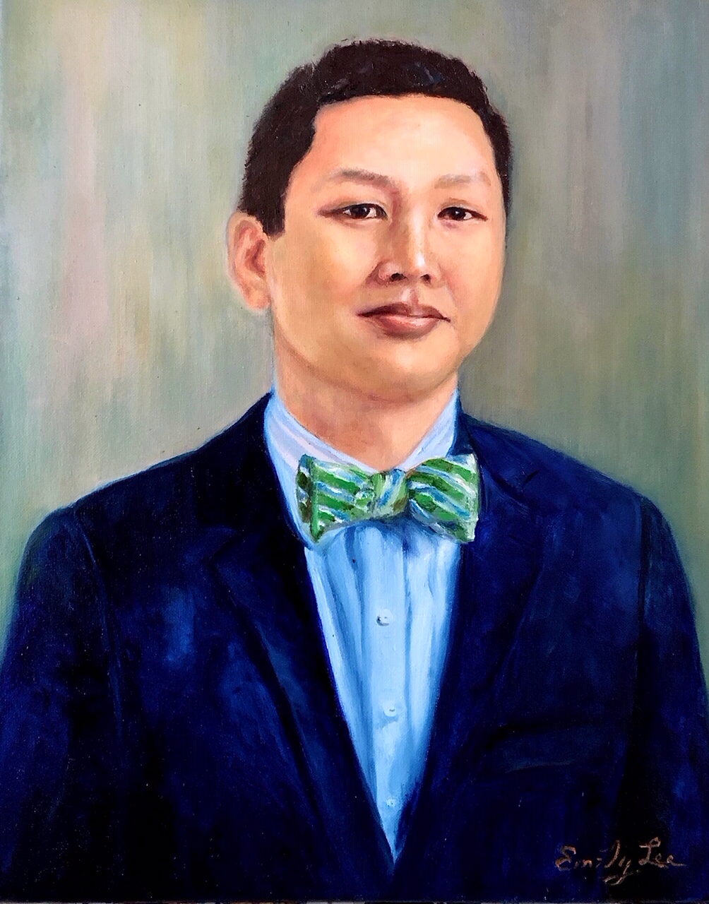 33. Prof. Bernard Travis Lee 李伯寧教授 by Artist 林榮峰 Emily Lee/09/2020