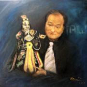36.  余忠村博士與布袋戲偶Dr. Rex Yu with Taiwanese Hand Puppet By Artist Nami Yang (李淑櫻)/2021